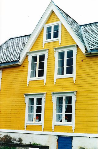 Norway yellow house