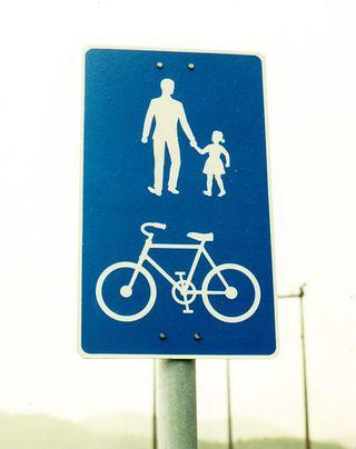 Norway bike sign