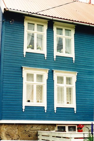 Norway blue house