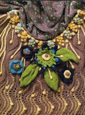 On liberty knit dress detail
