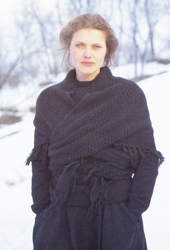 Norwegian tied shawl