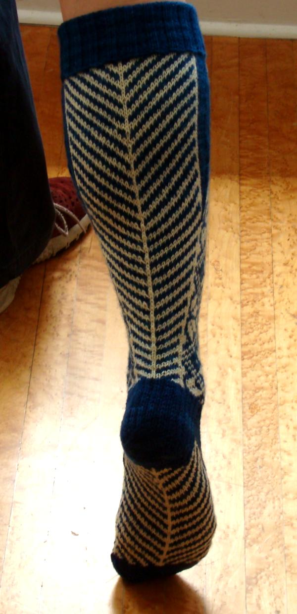 Norwegian socks calf and sole