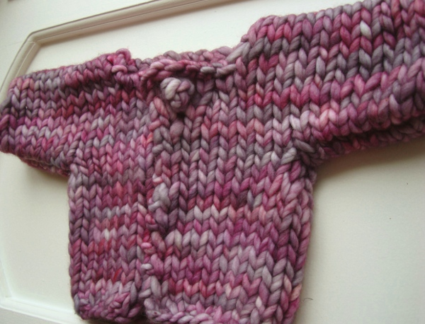 Almost instant baby cardi